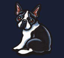 Cute Boston Terrier One Piece - Short Sleeve