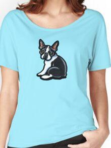 Cute Boston Terrier Women's Relaxed Fit T-Shirt
