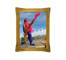 Wacky Clown Guitarist Art Print