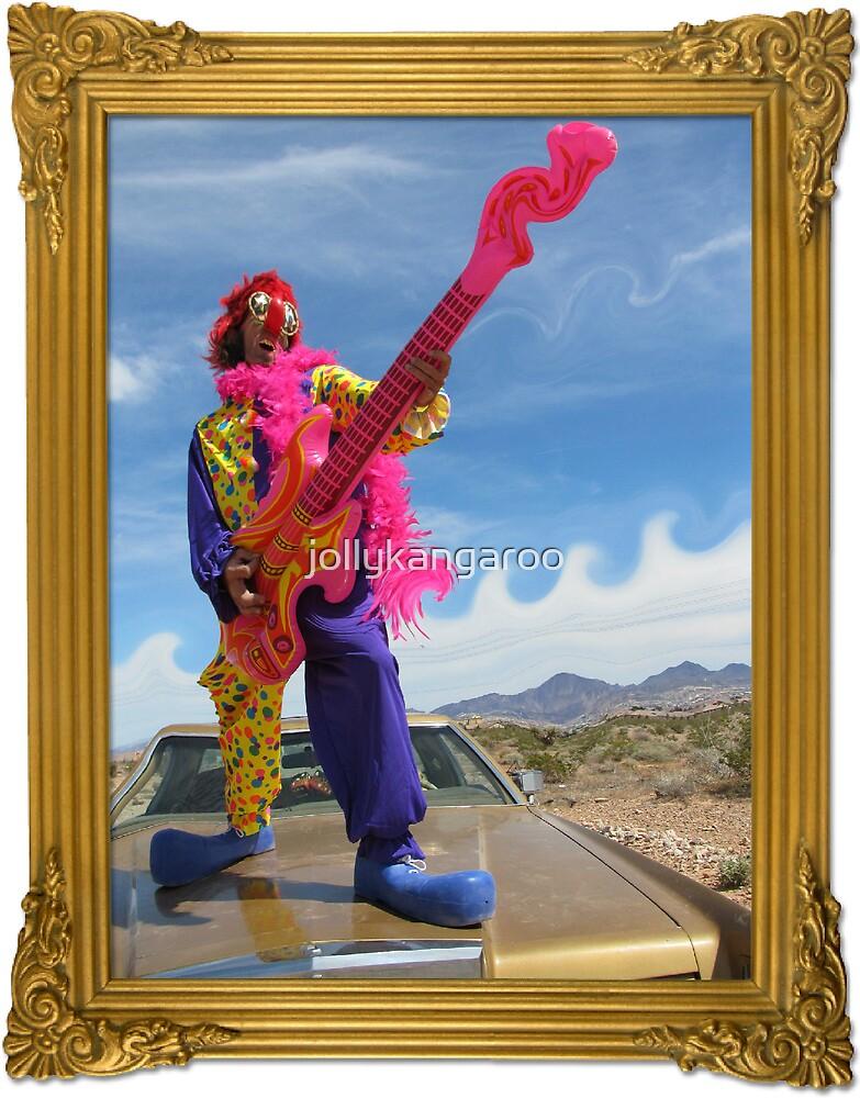 Wacky Clown Guitarist by jollykangaroo