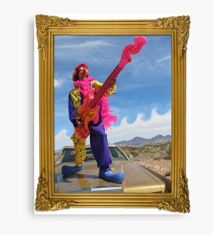 Wacky Clown Guitarist Canvas Print