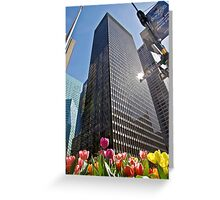Tulips in New York Greeting Card
