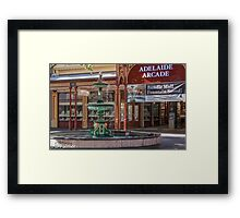 Rundle Mall - Fountain and Historic Arcade Framed Print
