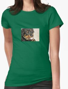 Portrait Of A Gentle Faced Female Rottweiler  T-Shirt