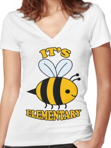 It's Elementary Women's Fitted V-Neck T-Shirt