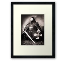Knight of the Blue Company Framed Print