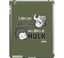 Avengers vs Loki iPad Case/Skin