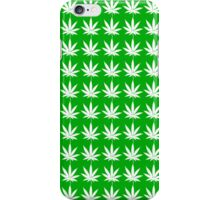 Weed Tiles (White) iPhone Case/Skin