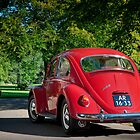 Ruby Red VW1300 Beetle - 1966 by Paul Peeters