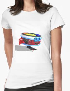 80's Retro Robot Womens Fitted T-Shirt