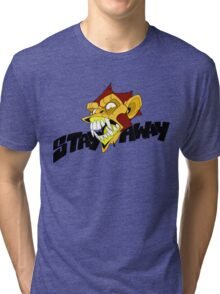 Angry Monkey - Orange/Red Tri-blend T-Shirt