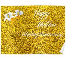 Happy Golden Wedding Anniversary Poster
