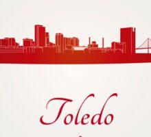 Toledo OH skyline in red Sticker