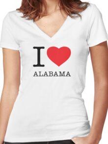 I ♥ ALABAMA Women's Fitted V-Neck T-Shirt