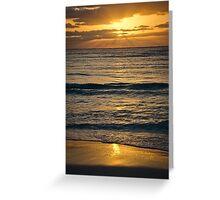 Sunrise over Playa Greeting Card