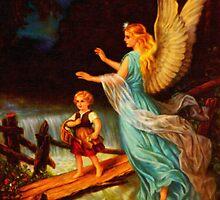 Heiliger Schutzengel  Guardian Angel 11 oil by Adam Asar