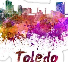 Toledo skyline in watercolor Sticker