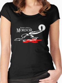 THERE'S BEEN A MORDOR Women's Fitted Scoop T-Shirt