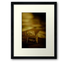 Reading the Future Framed Print