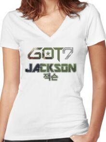 GOT 7 Jackson (Mad) Women's Fitted V-Neck T-Shirt