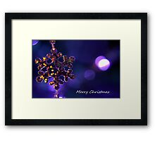 Star for Christmas Framed Print