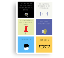 Last Words - John Green edition Canvas Print