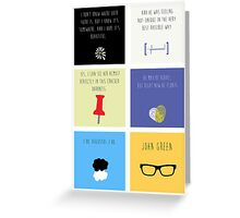 Last Words - John Green edition Greeting Card