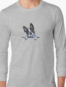 Curious Boston Terrier Long Sleeve T-Shirt