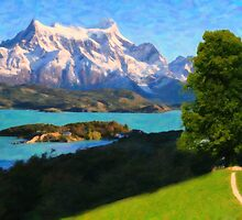 Highlands of Chile Lago Pehoe in Torres del Paine Chile by Adam Asar