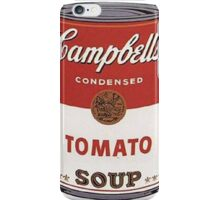 andy warhol campbell's soup iPhone Case/Skin