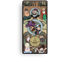 Gravity Falls Art Nouveau Canvas Print