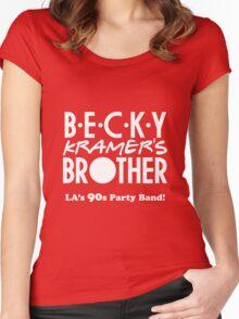 BKB Logo (white) Women's Fitted Scoop T-Shirt