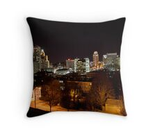 A Dark Cityscape Providence Throw Pillow