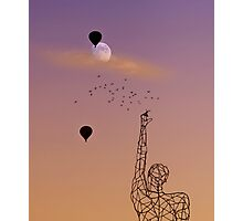No one is free, even the birds are chained to the sky.   Photographic Print