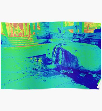 Heat Map Natural Spring Poster