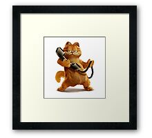 Garfield Telephone Framed Print