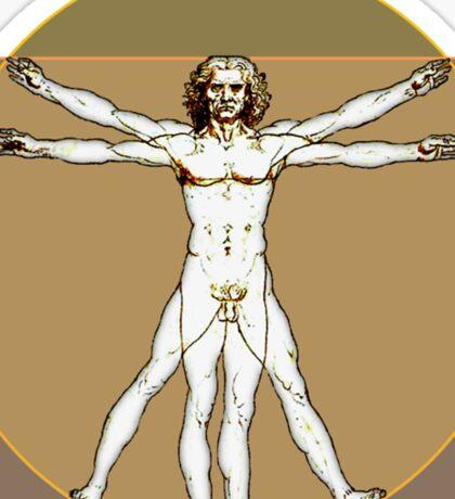 Vitruvian Dude Sticker