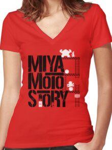 Miyamoto Story Women's Fitted V-Neck T-Shirt