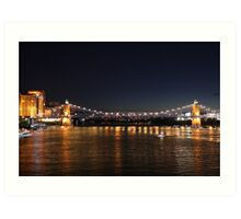 Brent Spence Bridge at Night Art Print