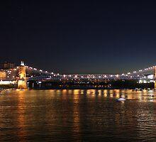 Brent Spence Bridge at Night by Jennifer Sands