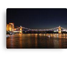 Brent Spence Bridge at Night Canvas Print