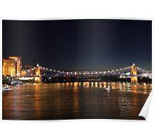 Brent Spence Bridge at Night Poster