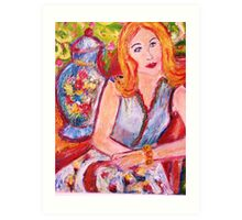 She's Thinking about You! Art Print