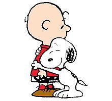 Snoopy and Charlie Hug Photographic Print
