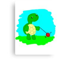 Yoyo Turtle at the Park Canvas Print
