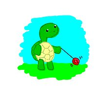 Yoyo Turtle at the Park Photographic Print