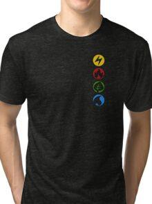 Lightning, Fire, Grass and Water. Tri-blend T-Shirt