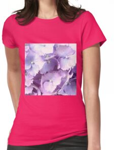 Purple Hydrangea Womens Fitted T-Shirt