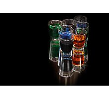 colored drinks Photographic Print