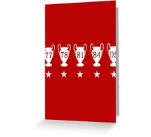 Liverpool FC Champions League Greeting Card